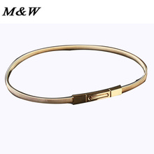 2017 Korean Fashion Decorative Metal Waist Chain Female Silver And Gold Elastic Thin Belts For Women Wholesale