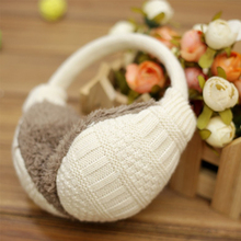2017 new style winter earmuffs warm unisex candy color ear muffs winter removed knitted plush winter ear muff PC229(China)