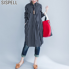 Buy SISPELL 2018 Striped Autumn Shirt Dress Female Long Sleeve Loose Plus Size Black Dresses Women Clothes Fashion Clothes Korean for $20.81 in AliExpress store