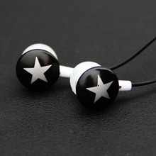 MOONBIFFY Chocolate Stars Candy In-ear Earphone for MP3 Players Earbud headset lovely cute special for smartphone ,MP3,MP4(China)