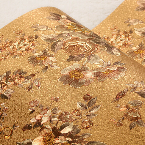 Chinese Retro Romantic Floral Background Wallpaper 3D Luxurious Roses Wallpaper For Bedroom Stereo 3D Mural Wall Paper PVC<br>