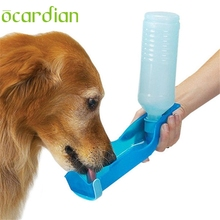 Ocardian pet water dispenser Foldable Feeders 2017 Pet Dog Cat Water Drinking Bottle Dispenser Travel Feeding Bowl #30 GIFT Drop