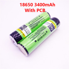 2PCS 2017 Original LiitoKala 18650 3400mAh battery 3.7V Li-ion Rechargebale battery PCB Protected For panasonic + Free Shopping