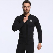 MYLEGEND 3MM Men Scuba Snorkeling Jacket Long Sleeves Male Diving Suits Man Wetsuits Surfing Tops Equipment(China)