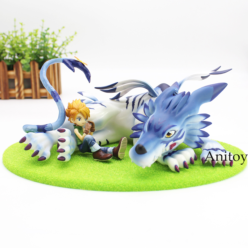 GEM Digimon Adventure Digital Monster Garurumon &amp; Yamato PVC Figure Collectible Model Toy<br>