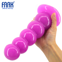 FAAK Big Solid Anal Dildo Beads Plug Strong Suction Cup 5 Balls Masturbate Sex Toy Women Men Gay Adult Product China Sex Shop(China)