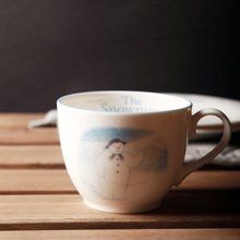 High Quality Ceramic Mugs Made In Japan Snowman Breakfast Milk Cups Juice Mug Cute Coffee Cup Porcelain Handgrip Cartoon White