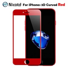 Buy 3D Full Cover Tempered Glass iPhone 7 Plus Screen Protector Film iPhone 6 6s Glossy Carbon Fiber Soft Edge Glass case for $1.11 in AliExpress store