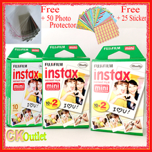 50 Sheets Fujifilm Instax Mini 8 Film VALID UNTIL 2019-3 + Free Sticker Photo Protector for Polaroid Mini Camera 7S 9 70 90 NEO