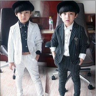 2017 Brand New Boys Striped Formal Wedding Suit England Style Boys Blazer Suit Kids Party Evening Tuxedos Boys Formal Wear<br><br>Aliexpress