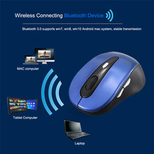3 Colors Slim Bluetooth 3.0 Wireless Mouse for win7/win8/10 xp mac ipad Android Tablets Computer 800/1200/1600 Adjustable DPI