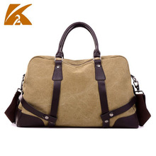 KVKY Men's Vintage Canvas Travel Bag Male Military Carry on Luggage Duffel Bag Large Capacity Tote Shoulder Handbag B484