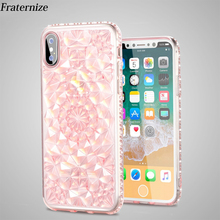 Buy iPhone X 10 3D Diamond Bling Glitter case iPhone 6 6S 7 8 Plus 5 5S SE Transparent Soft TPU Clear Sun flower Back cover for $1.37 in AliExpress store