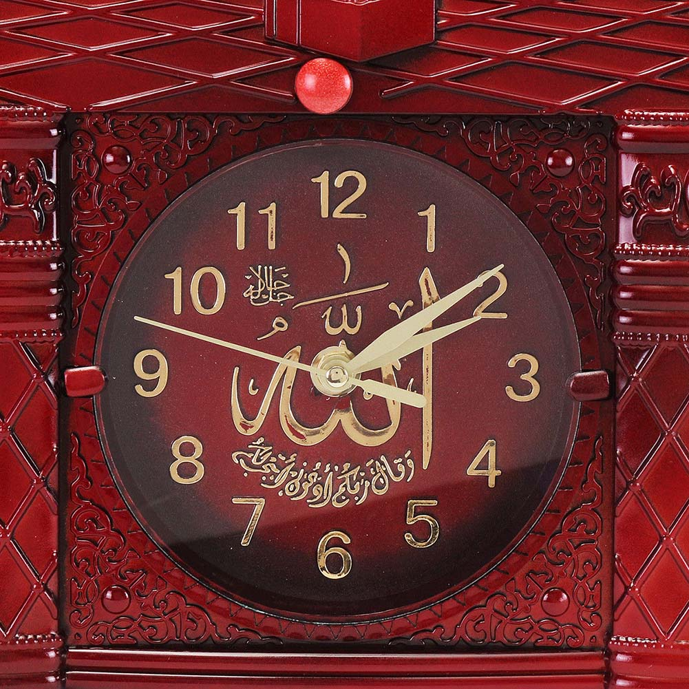 Vintage Islamic Mosque Azan Wall Clock Muslim Prayer Home Decor Gift