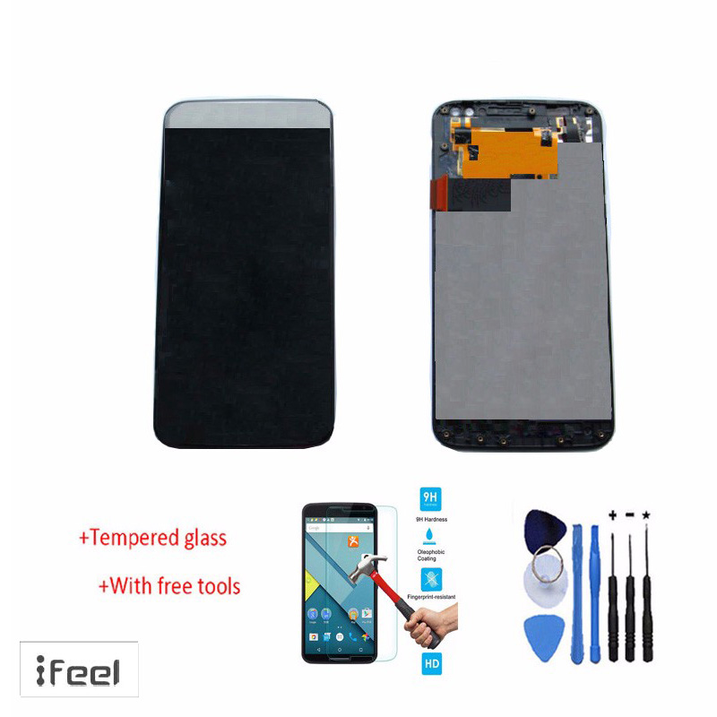 Original 100% test LCD Display Touch Screen Digitizer Assembly + Frame For Motorola Moto X Style XT1575/XT1572 Black White+Tools<br><br>Aliexpress