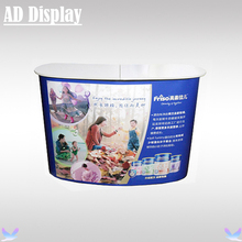 2*2 Economical Curve Shape Portable Advertising Pop Up Promotion Table,Exhibition Pop Up Counter Display