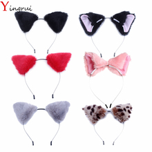 Fluffy Fox Cat Ear Hairbands Girls Cosplay Party Cute Headbands Kawaii Kitty Ears Hair Bands