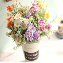 Artificial Daisy Flowers Bouquet Simulation Plants Fake flowers Marguerites Flower for Home Wedding Decor Flores Accessories(China)