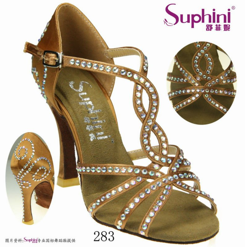 Free Shipping Suphini Nude Salsa Shoes Woman Salsa Dance Shoes<br><br>Aliexpress