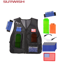 Surwish Tactical Equipment Chameleon Set kit For Nerf Elite Outdoor Games With Soft Bullets Bullet Clips Tactical Vest Dart Ammo