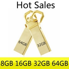 Genuine 16GB 32GB USB Flash Drive 64GB 128GB Pen Driver USB Memory Stick Flash Card 512GB Metal Little Hook Mini Key Gift 2.0