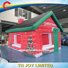 Free Shipping Inflatable Santa House / 4x3m Inflatable House Inflatable Christmas House with Free Air Blower
