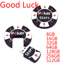 NEW Design Memoria Usb Flash Drive 2.0 Poker Stars Pen Drive 64GB 8GB 16GB 32GB Memory Stick Pen Drive Thumb Drives 512GB Gifts(China)