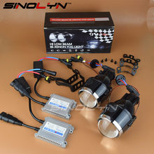 SINOLYN Universal Waterproof Bi-xenon Foglights Lens Projector Bifocal Driving Fog Lamps Car Motorcycle Aftermarket Retrofit Kit(China)
