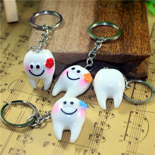10 Pcs Simulation tooth pendant keychain small gifts promotional gifts Dental Hospitals / Clinics(China)