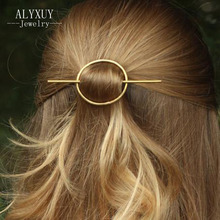 New fashion hairwear simple round bar Hair Accessories gift for women girl H408(China)