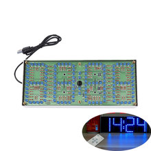 ECL-132 DIY Kit Blue Clock Screen Display Kits Electronic Suite With Patch Remote Control 132pcs 5mm LEDs Display Clock(China)