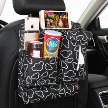 1PC Mini Car Back Seat Organizer Container Bag Multi-Pocket Travel Storage Bag 33x33 cm for Cars SUVs Trucks Vans Accessory(China)