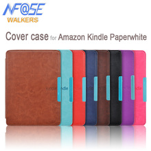 Intelligent slim couverture en cuir avec aimant fermeture cas pour Amazon kindle paperwhite 1/2/3 2ème 3ème ebook/ereader + film + Stylus(China)