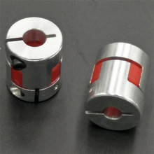 4pcs/lot   6.35 mm to 10 mm CNC Flexible Jaw Spider Plum Coupling Shaft Coupler  4/ 5/6/6.35/8/9.5/10/12mm