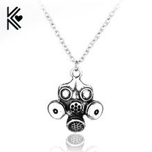 Movie Television Doctor Who Antique Silver Gas Masks Shape Chain Necklace High Quality Women And Men Pendant Necklace Wholesale