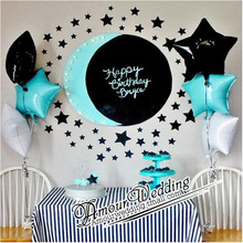 6pcs/lot 45*45cm Star heart Shape Balloons love helium foil balloons love Wedding Birthday Party Decoration supplies globos