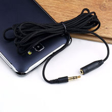 New 10ft 3.5mm Male to Female Audio Stereo MP3 Earphone Extension Cloth Cable