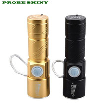HOT!!! Outdoor Portable Mini USB Charging Zoom LED Flashlight Free Shipping #NN01(China)