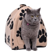 Cone Pet Cat Bed Kitten Kennel Very Soft Fabric Dog Bed Pet House Puppy Dog Cat with Paw Cama Para Cachorro Products for Animals(China)