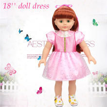 Big Discount ! Good Quality Pink Colour Adora Baby Doll Clothes Fit For 18'' American Girl Doll Large Quantity Wholesale Clothes(China)
