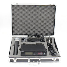 Aluminum Case Box SLX24 BETA58 UHF Wireless Microphone Cordless Karaoke System With Handheld Transmitter Mic(China)