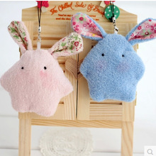 1 Pcs Small Lovely Pearl Rabbit Cushion Plush Toy Pendant Wedding Christmas Gift Throw Pillow Mobile Phone Decoration for Girls(China)