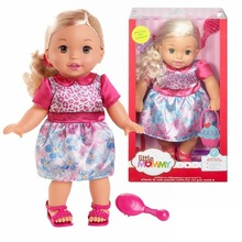 38cm Gold hair pretty girl Little Mommy baby doll Fragrant Boneca doll toy figure toy
