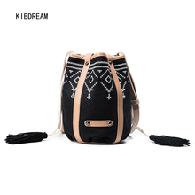KIBDREAM 2017 Fall New Style Embroidery, Korean Style Single Canvas, Take Oblique Shoulder Bag Free Shipping(China)