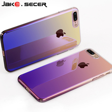 New Cool Gradient Color Blue Reflective Slim Best Phone Coque Cover For Apple iphone 6 s 6s 7 Plus Cases Accessories Fundas Capa(China)