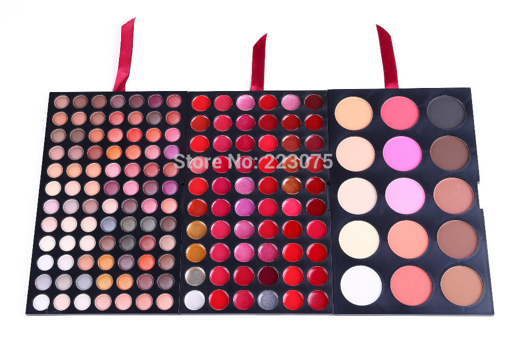 Pro 159 colors Makeup Pallette 84 Eyeshadow 15 Concealer Camouflage 60 Lip Gloss Hot<br>