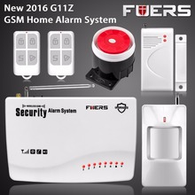 Wireless GSM Home Alarm System SMS Autodial House Home Security System Intruder Alarm Russian/English Voice PIR Detector Door Se