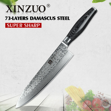 "XINZUO HIGH QUALITY 8"" inch chef knife Chinese best Damascus kitchen knife woman chef knife with K133 wood handle free shipping(China)"
