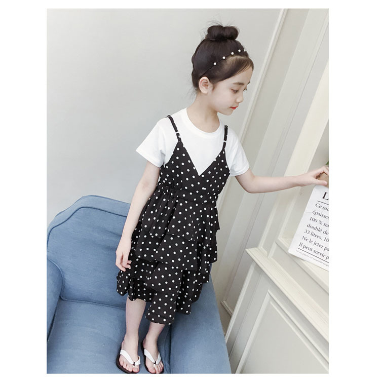 2 Pcs Teenage Girls Clothing Sets Kids Outfits Baby Girls Fashion Clothing Sets Kids Sleeveless Dress And T Shirts Clothes Suits 15 Online shopping Bangladesh
