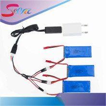 3pcs 7.4V 1200mAh Battery USB Charger 3 in 1 Cable For YiZhan Tarantula X6 MJX X101 X102h JJRC X1 H16 WLtoys V666 V262 V353 V333